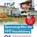 Einladung zum traditionellen Spansaugrillen der FPÖ Vasoldsberg