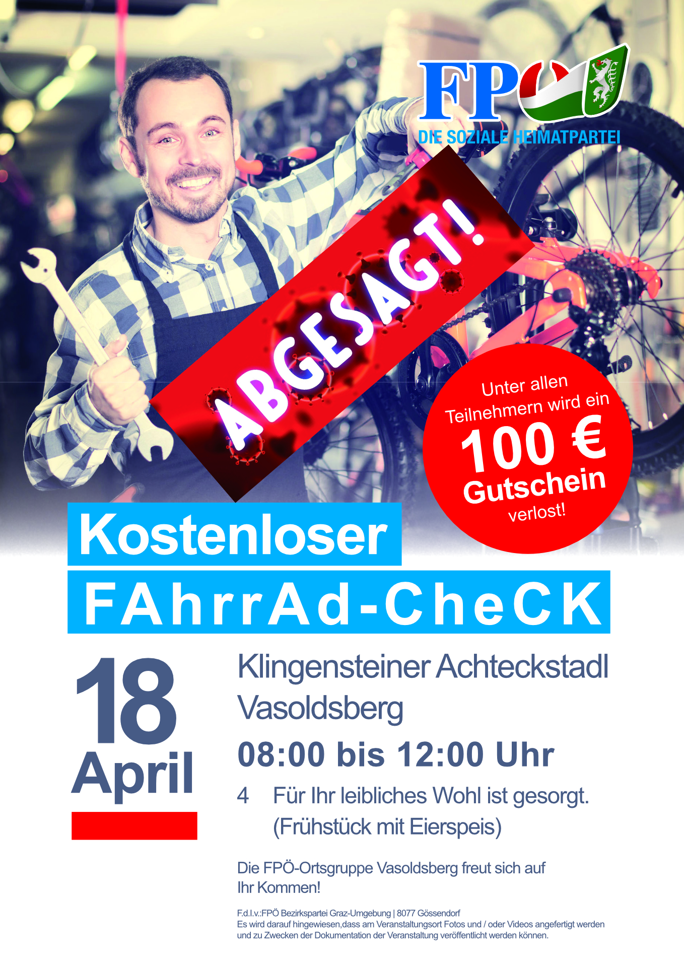 Absage Fahrradcheck 2020
